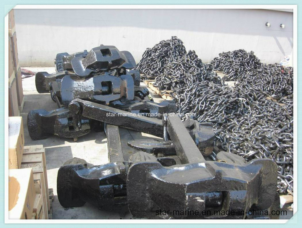 Steel Casting Japan Stockless Anchor pictures & photos