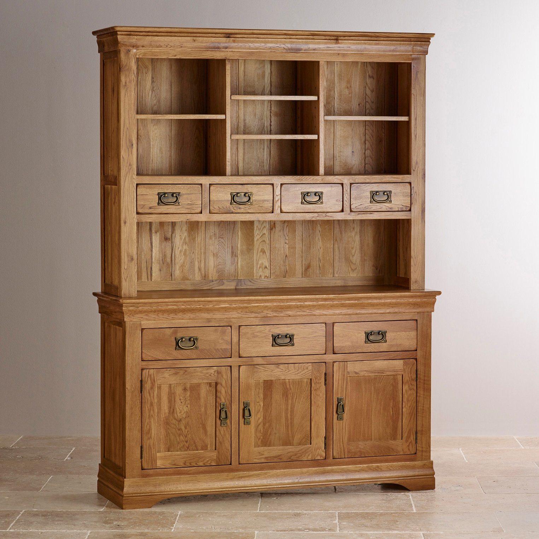 China Rustic Vintage Oak Solid Wood