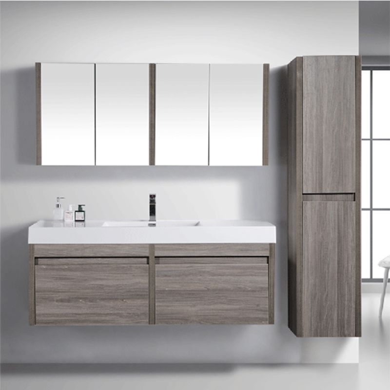 China Floating Wood Bathroom Vanity
