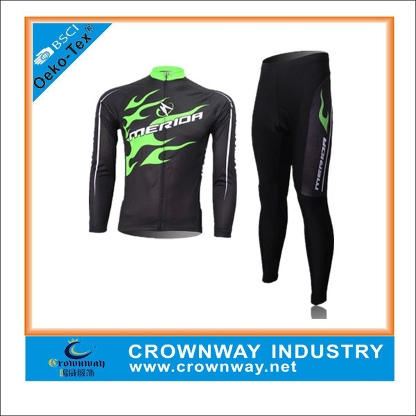 New Custom Design Sublimation Long Sleeve Cycling Jersey & Pant