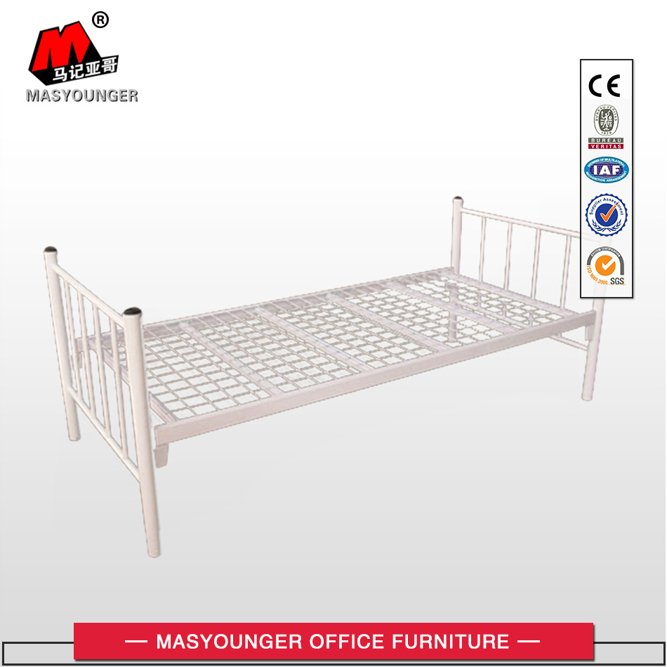 Hospital Hotel Dorm Modern Metal Furniture Single Plate Top Bed