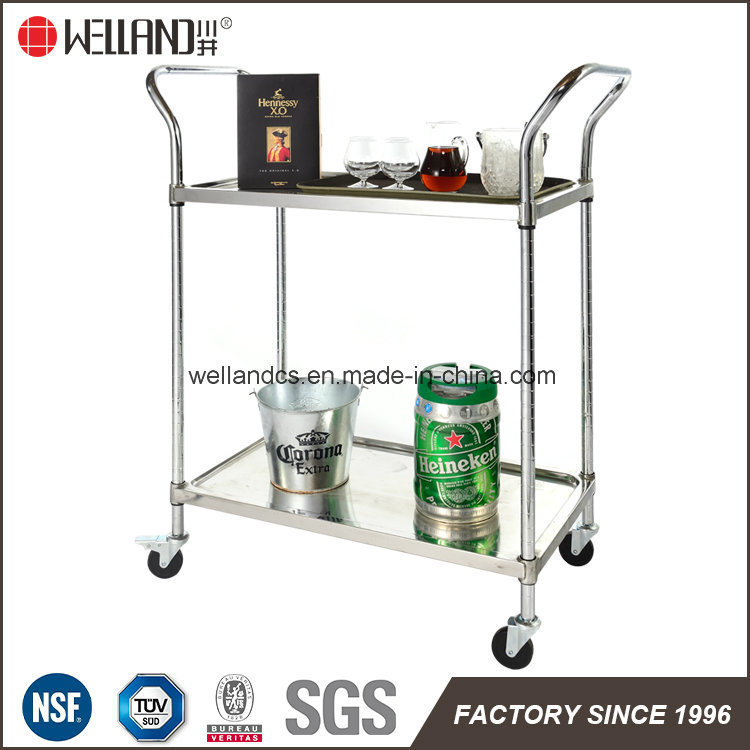 China NSF Stainless Steel Wire Restaurant Serving Cart Trolley ...