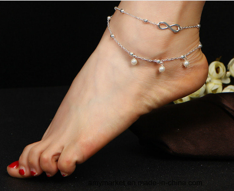 high silver from s quality wholesale women anklets coin plated gold trendy fashion female jewelry pendant and ring toe anklet layer new product popular