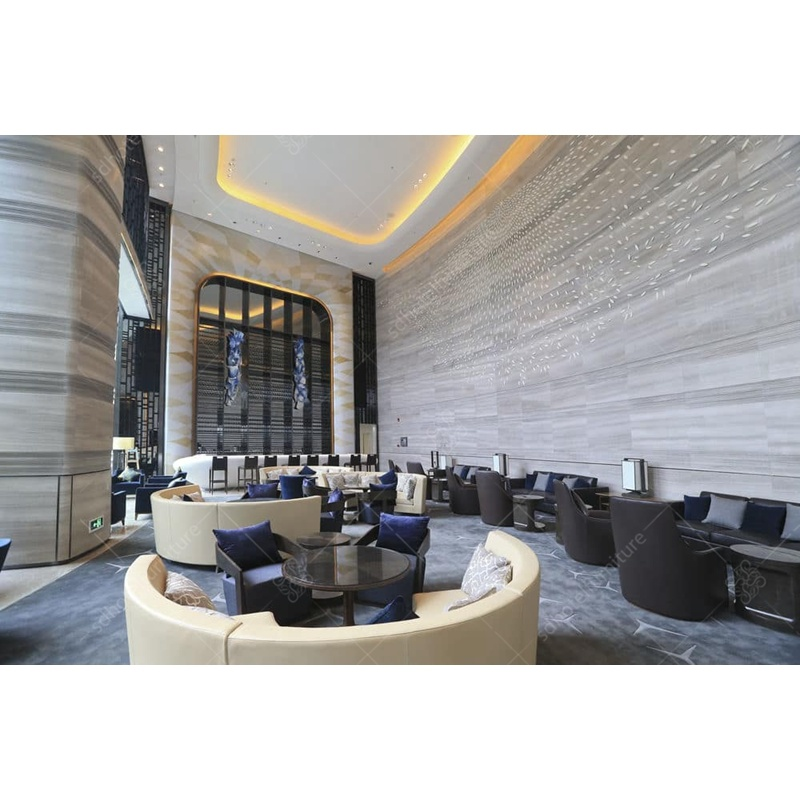 China Hot Luxury Modern Design Hotel Lobby Furniture Round Sofa Bedroom