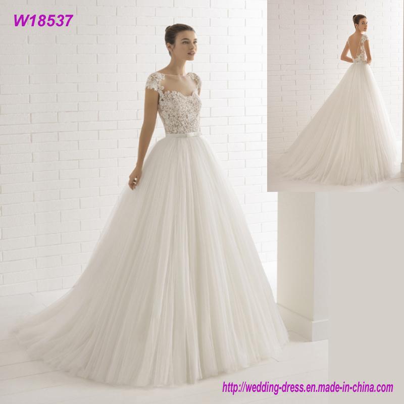 China Factory Direct Plus Size Classical Pure White Elegant Wedding ...