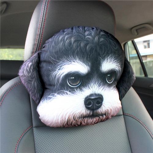 China 3d Cat Dog Pillow 3d Cat Dog Car Headrest Pillow China 3d