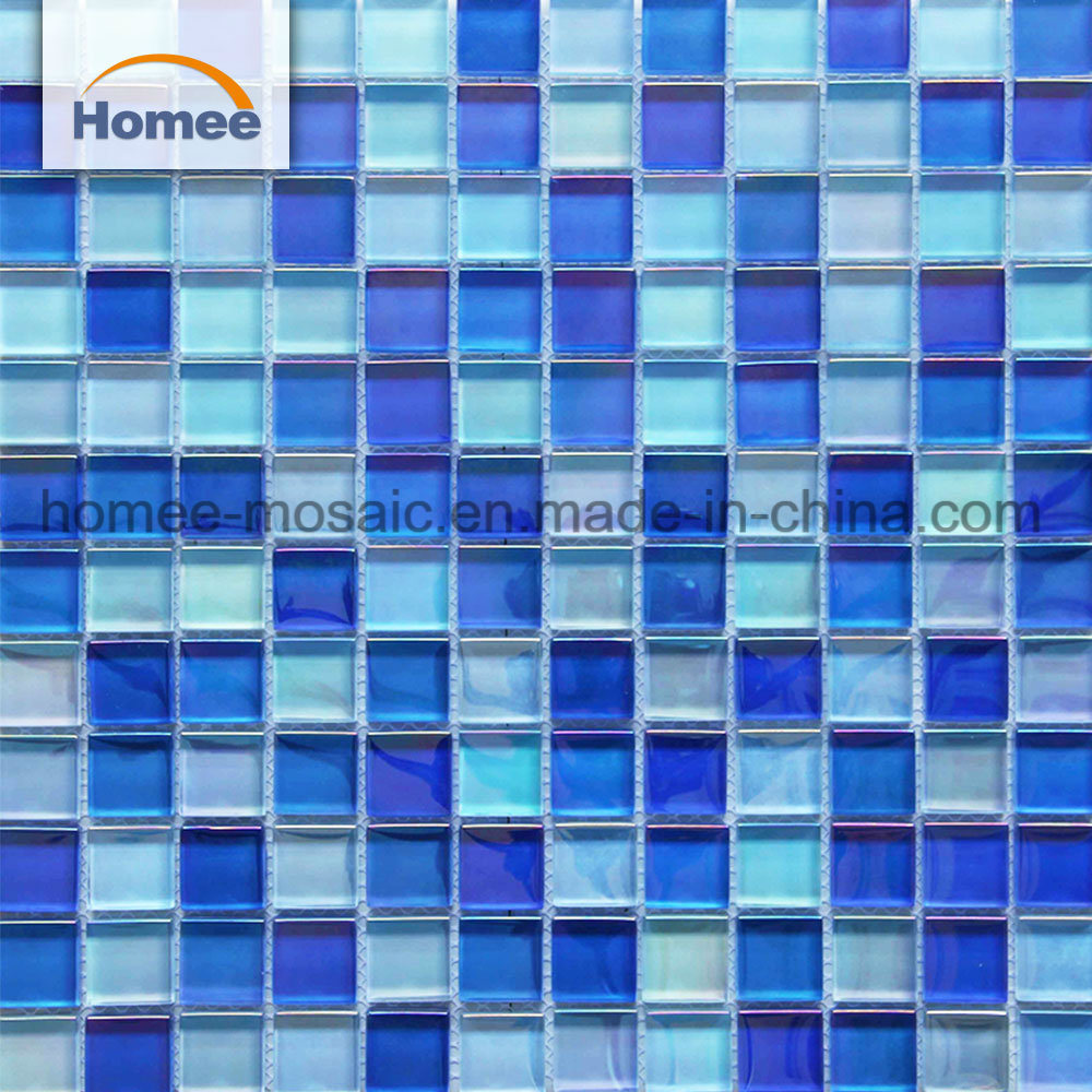 [Hot Item] Beautiful Waterproof Indoor Glass Mosaic Swimming Pool Tile