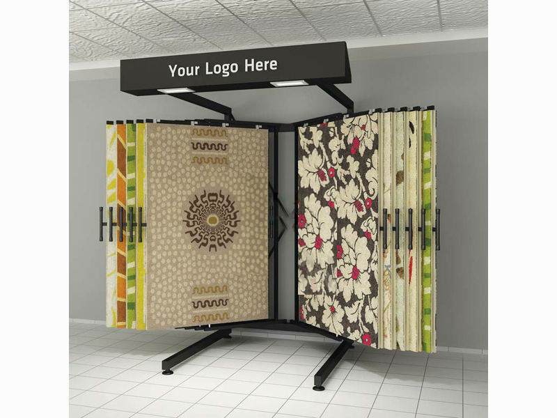 Customized Rug Carpet Display Stand
