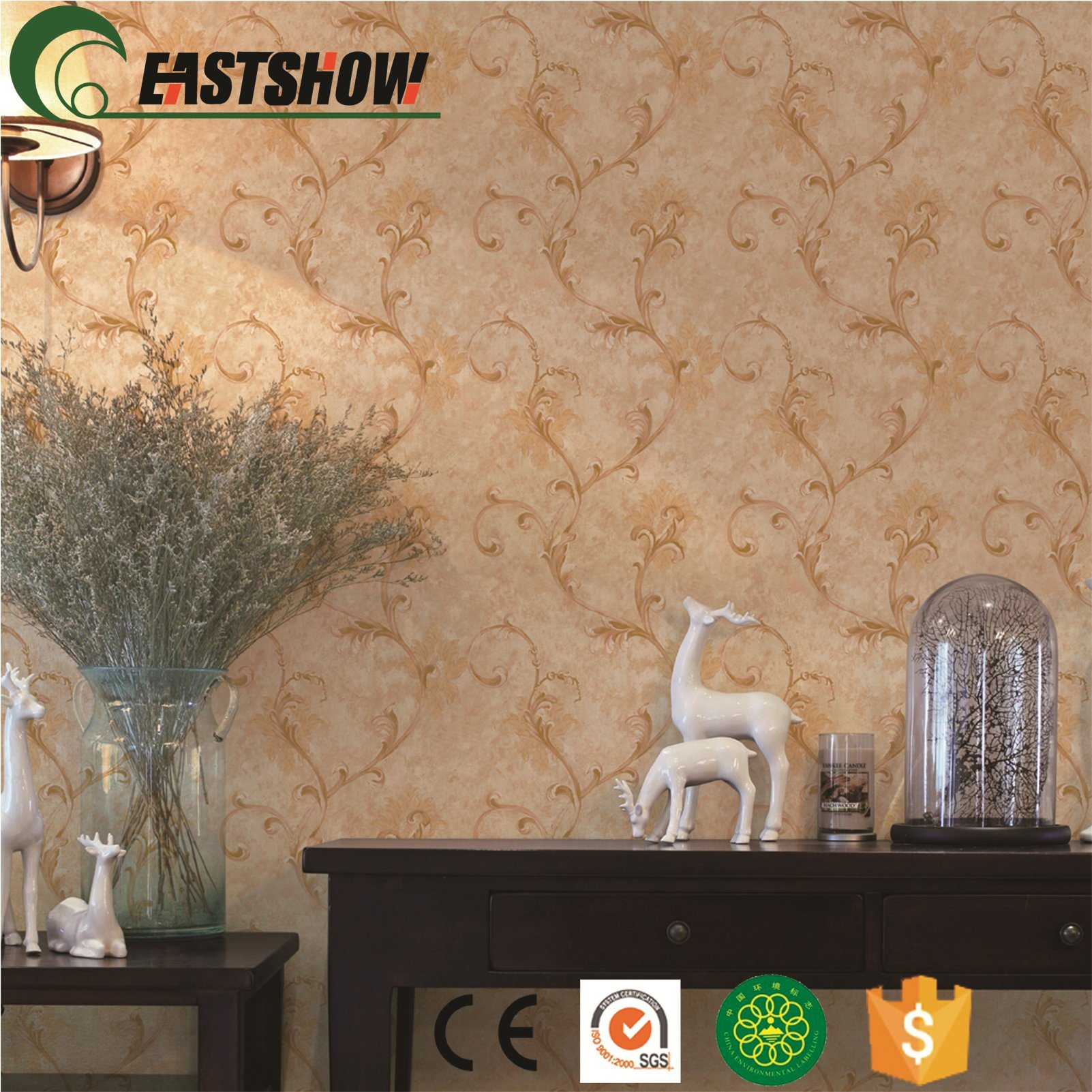China Classic Cheap Vinyl Wallpapers Wall Decoration