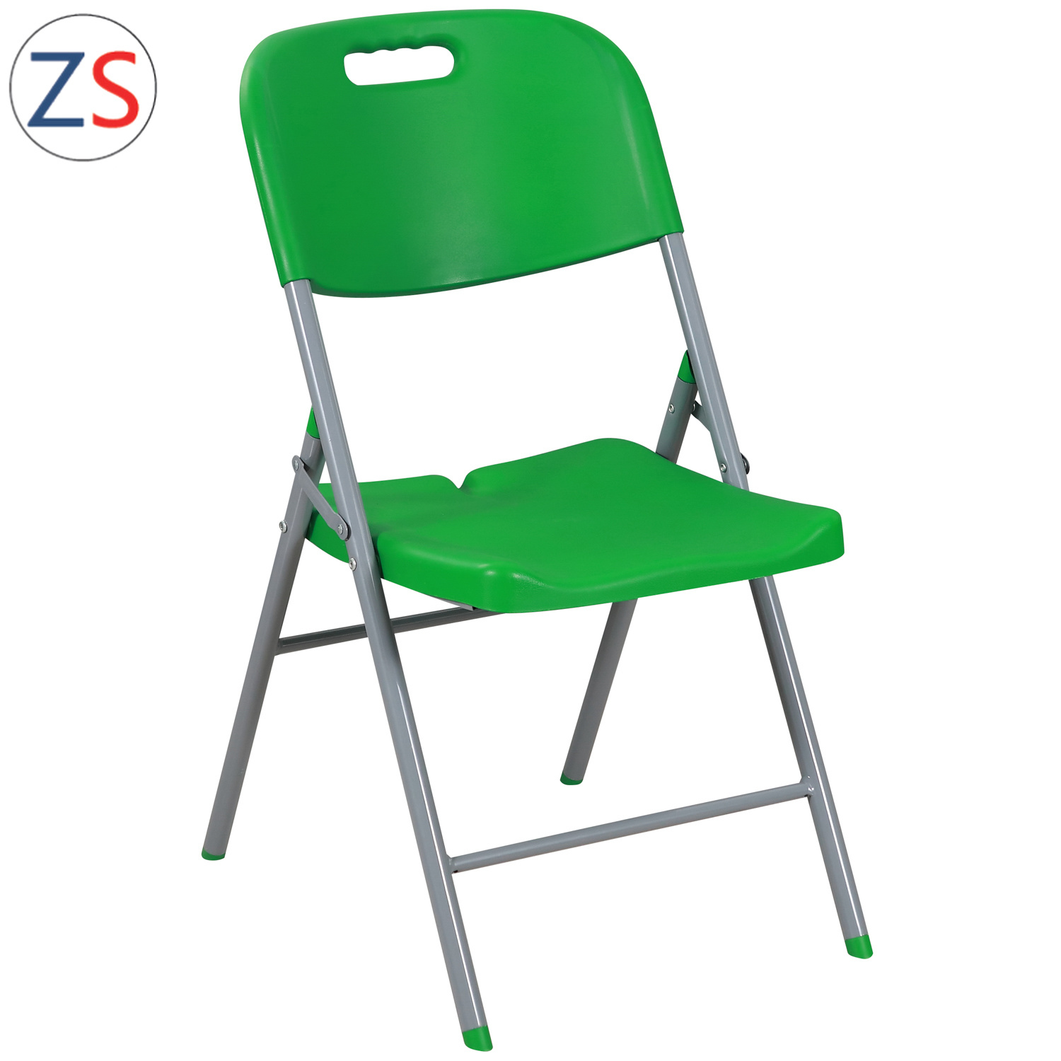 China Green Strong Outdoor Metal Plastic Folding Chair