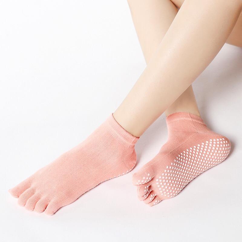 Women Yoga Socks Gym Yoga Fitness Five Toes Socks Pilates Anti-slip Fishnet New
