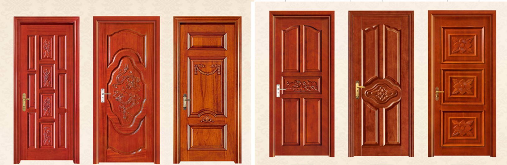 Hot Item Modern House Wooden Single Main Door Design Front Door Security Door