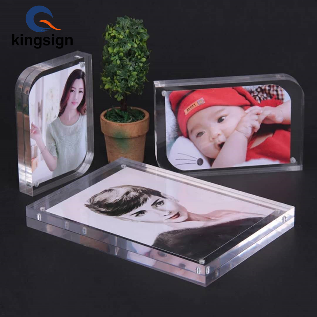 Wholesales Double Sides Clear 4x6 5x7magnetic Acrylic Photo Frame