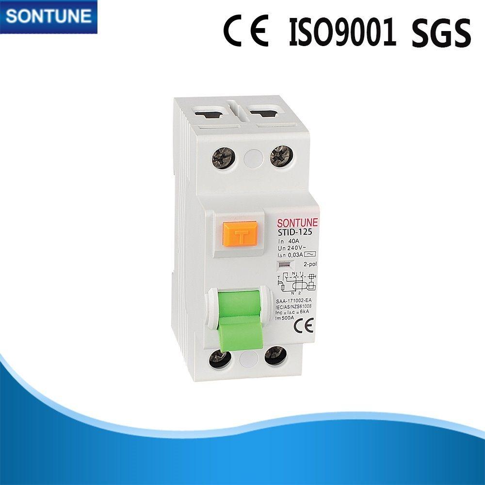 China Stid-125 Double Pole White RCCB Circuit Breaker AC Type 300mA Plastic  Texture - China Circuit Breaker, Breaker