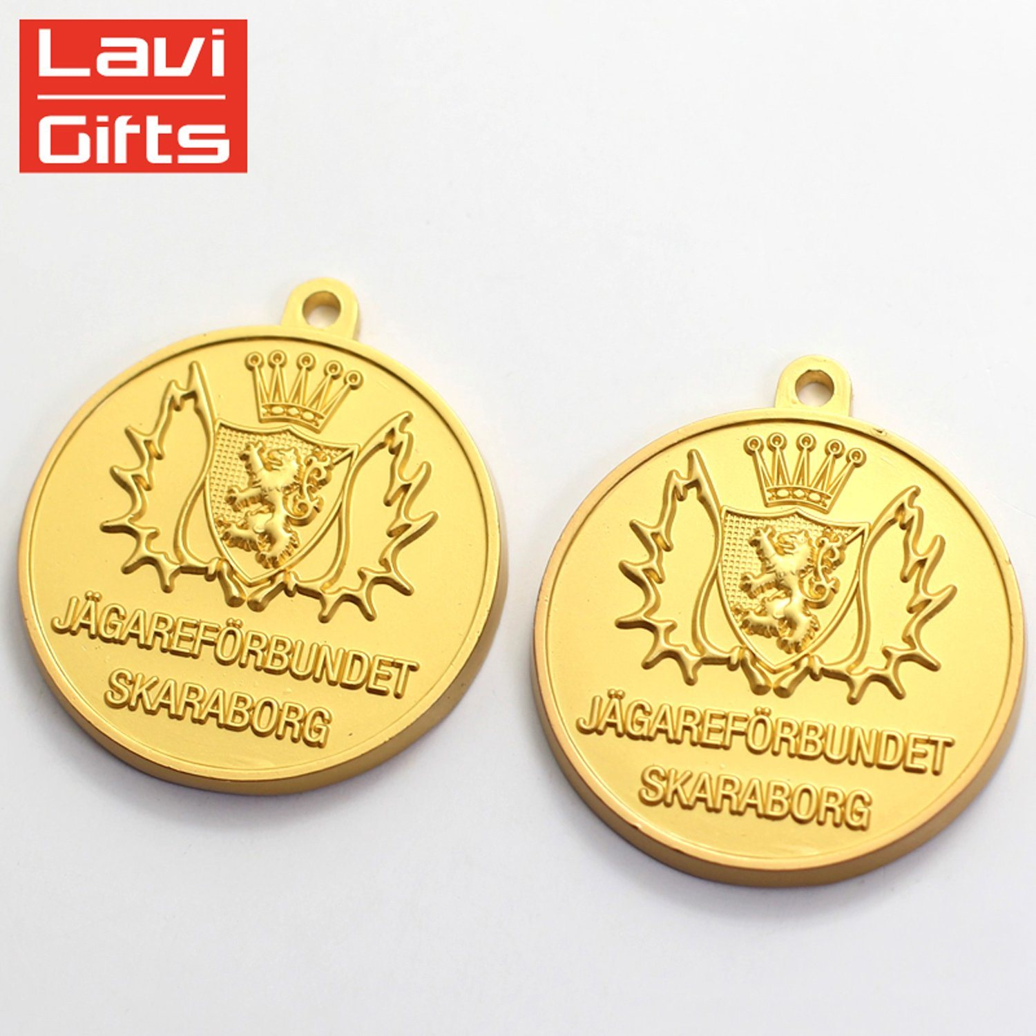 China Personalized Engraved Custom Made Gold Plated Metal Unique