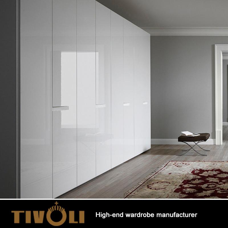 China Supplier Modern Bedroom White Wardrobe Closet Design TV-0336