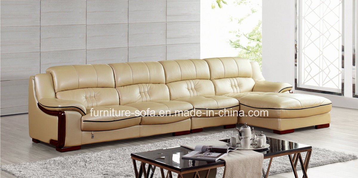 Living Room Furniture Chinese Leather Sofa Set So31 China