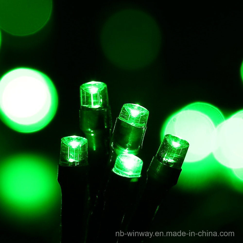 Solar Powered 100 LED Outdoor Christmas String Light Green Color