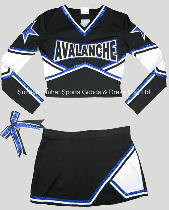 Spandex Long Sleeve Cheerleading Uniforms