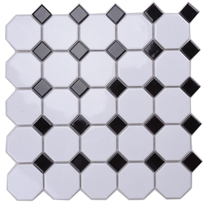 China Foshan Hot Sale Good Quality Octagon Ceramic Mosaic Tile