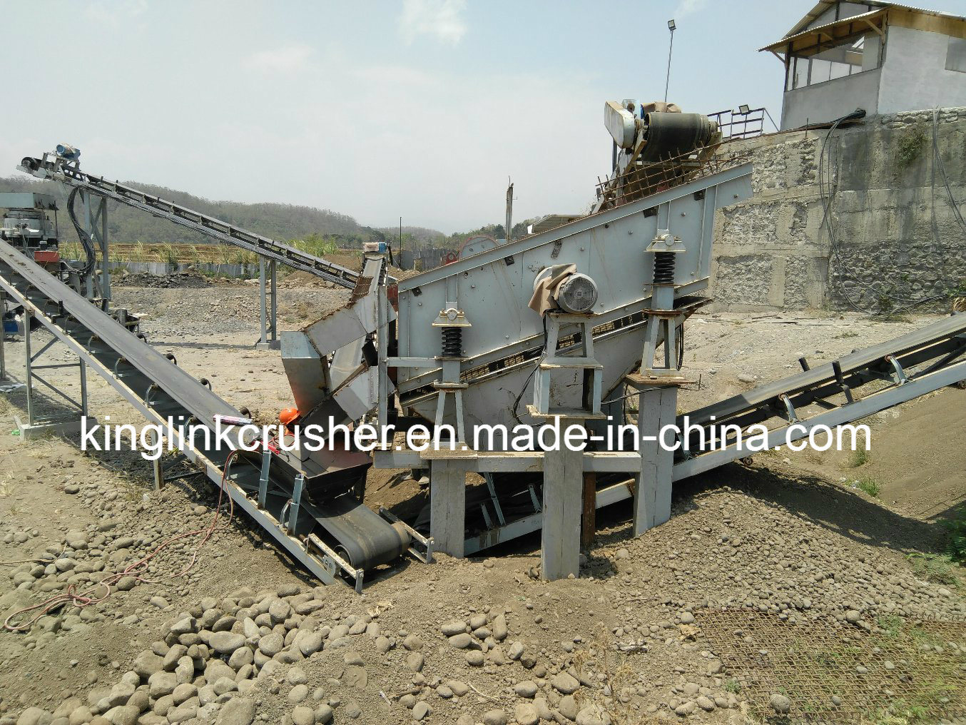 China 120tph River Stone Aggregate Crusher and Screening
