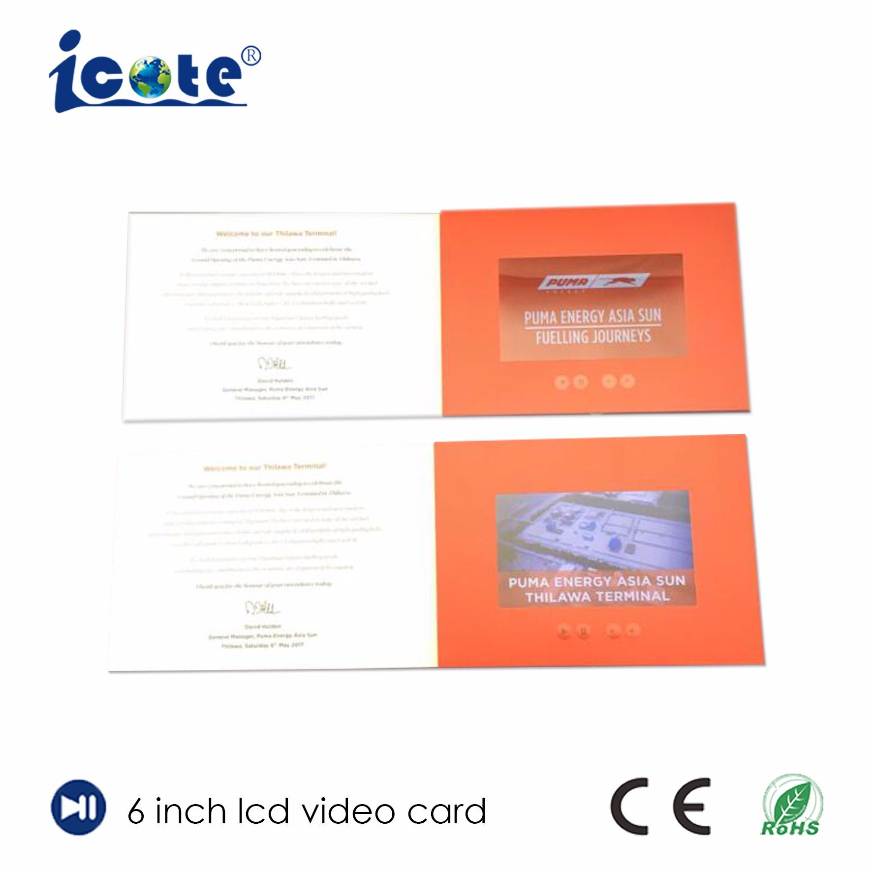 China Free Sample 6 Inch Screen Lcd Video Brochure Video Card