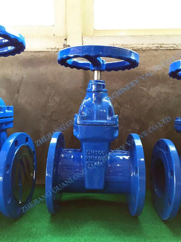 (Z45X) Non Rising Resilient Seat Rubber Coated Wedge Gate Valve pictures & photos