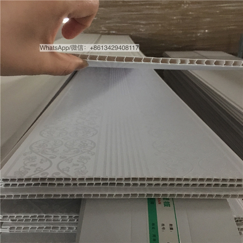 Pvc Wall Panelling Plastic False Ceiling Panel With Laminated Surface Treatment