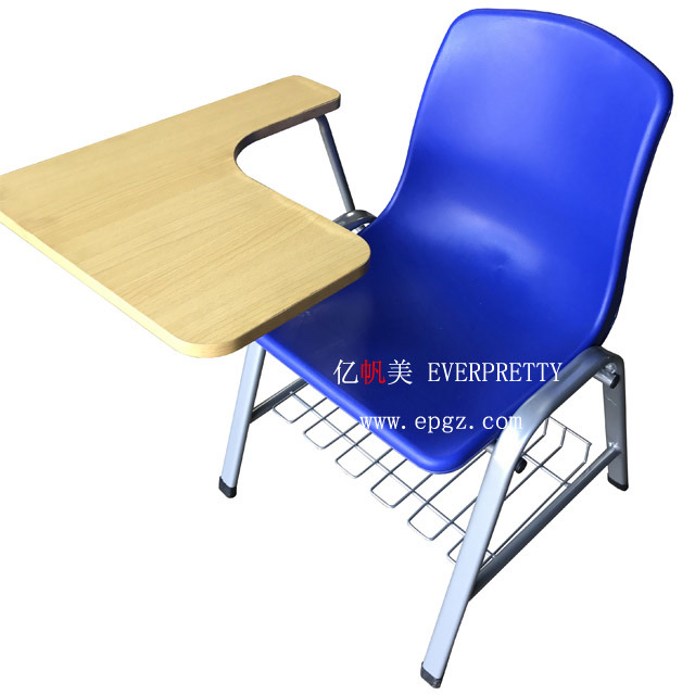 China Plastic Student Chair With Writing Pad Examination