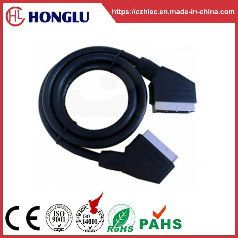 100% Tested Customized Scart Cable (SY033) pictures & photos