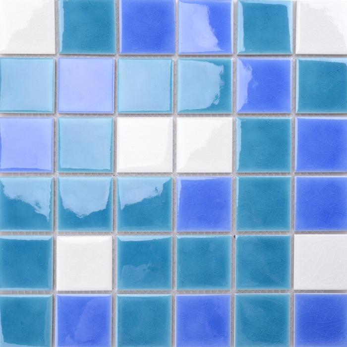 [Hot Item] for Sale Decorative Blue Ceramic Mosaic Swimming Pool Tiles