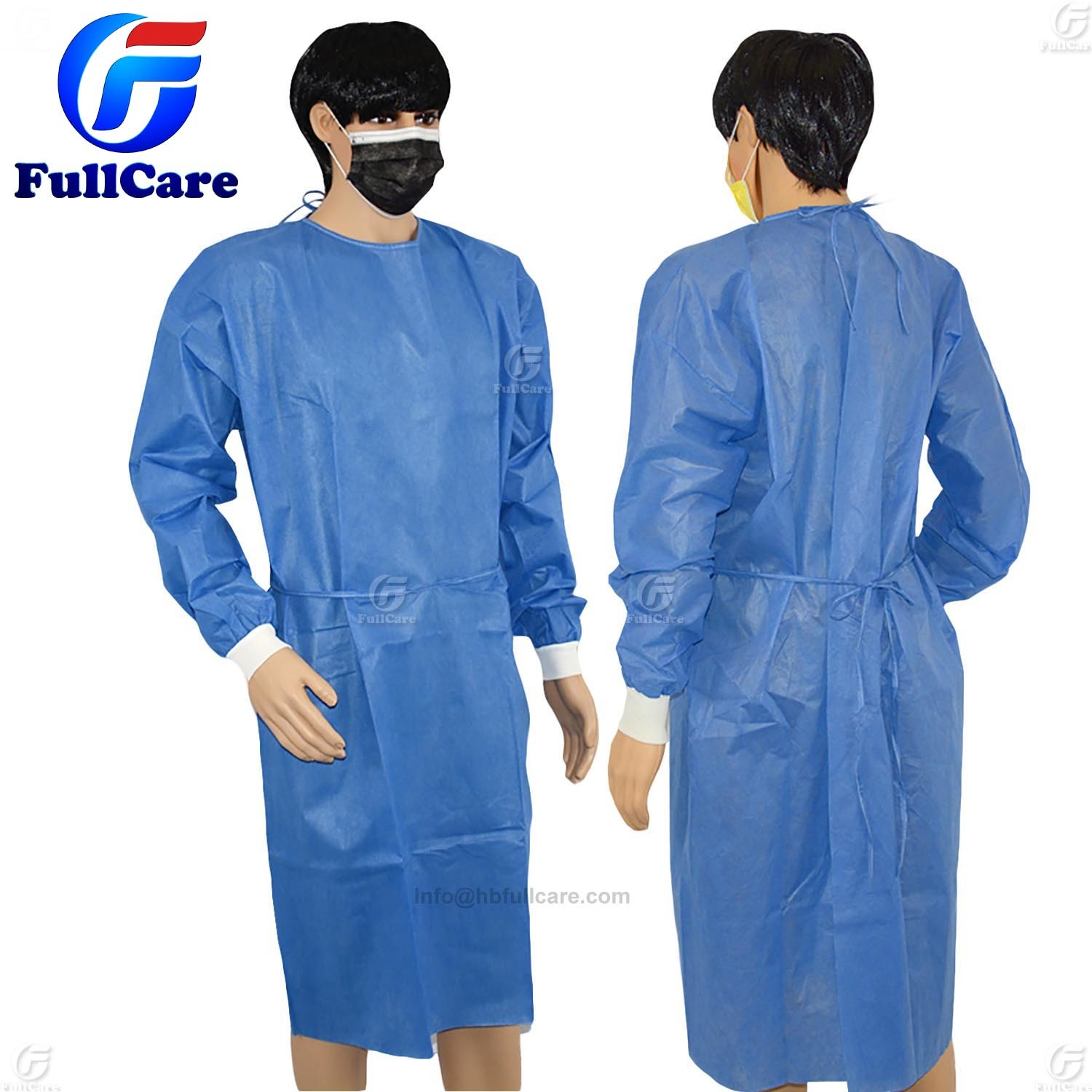 Sterile Nonwoven SMS Disposable Surgical Gown pictures & photos