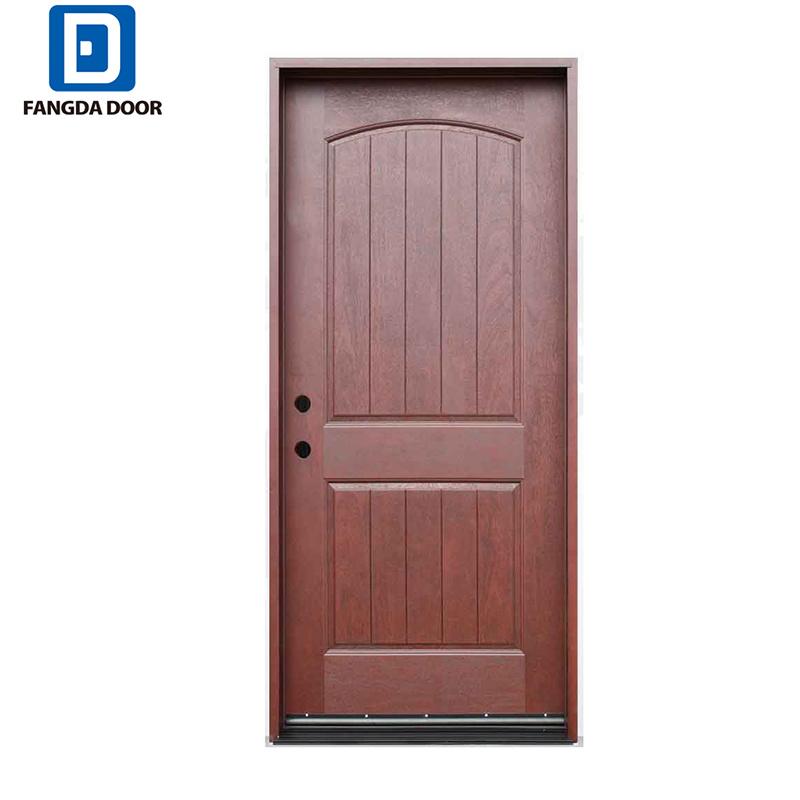 China Fangda Newest Type Fibre Glass Door Better Than Plain Wooden