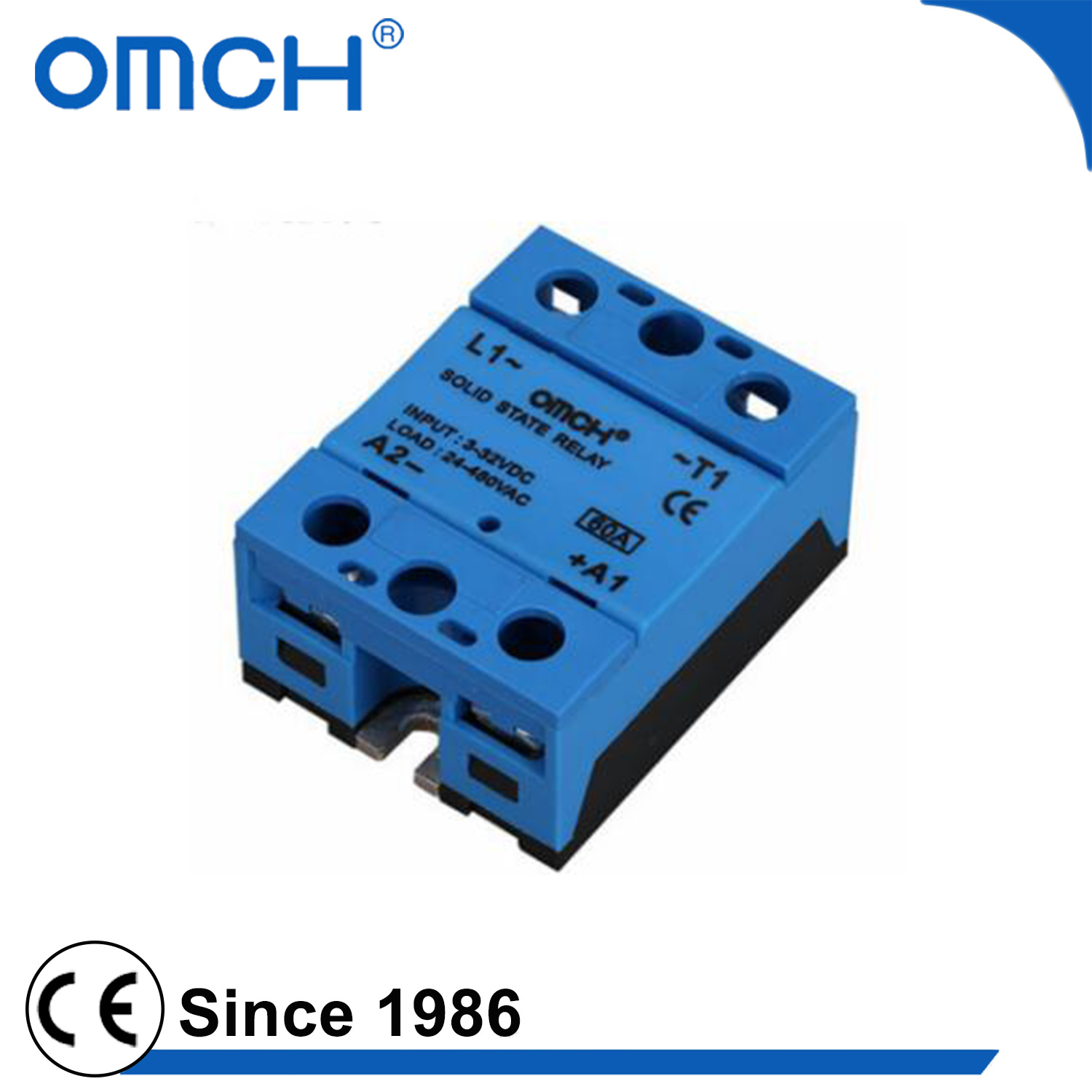China A Quality 32vdc 480vac Dc Ac Industrial Single Phase Solid State Relay For Ssr