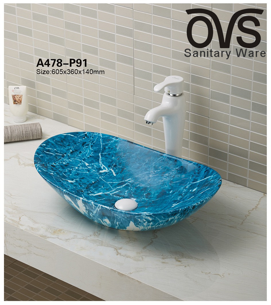 China Modern Blue Color Cabinet Basinwash Basin Bathroom Vanity Sink Photos Pictures Made In China Com