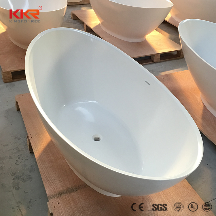 China New Arrival Acrylic Solid Surface Resin Stone Bathtubs for ...