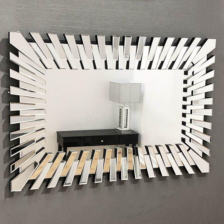 China Living Room Rectangular Gear Wall, Mirrors Living Room Wall