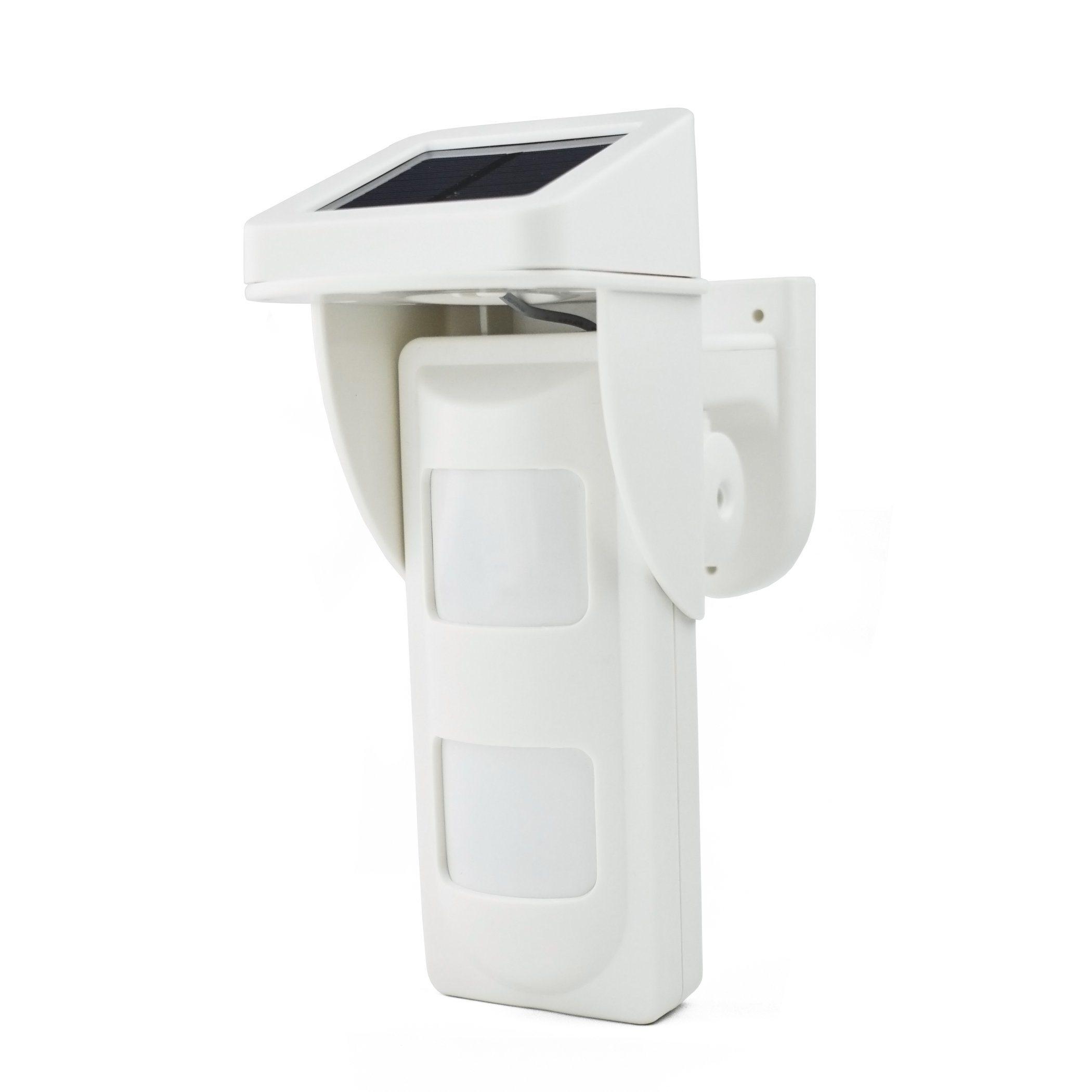 GSM Alarms Outdoor Solar Powered Wireless Dual PIR Pet Immune Waterproof IP65