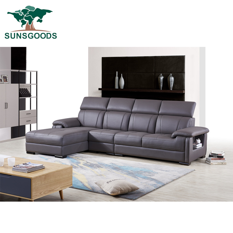 Fancy Sofa Set With Storage Armrest