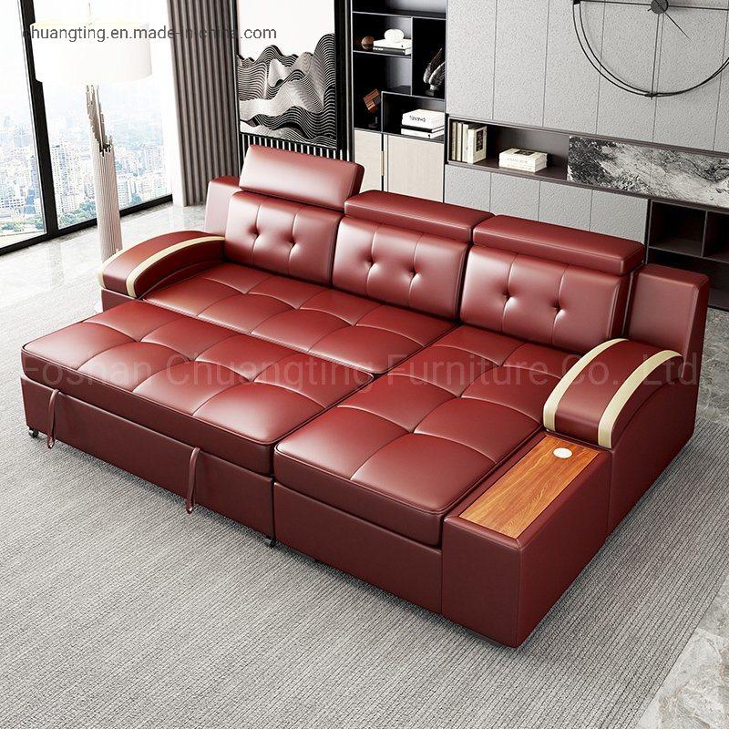 China Multifunction Modern Leather Sofa