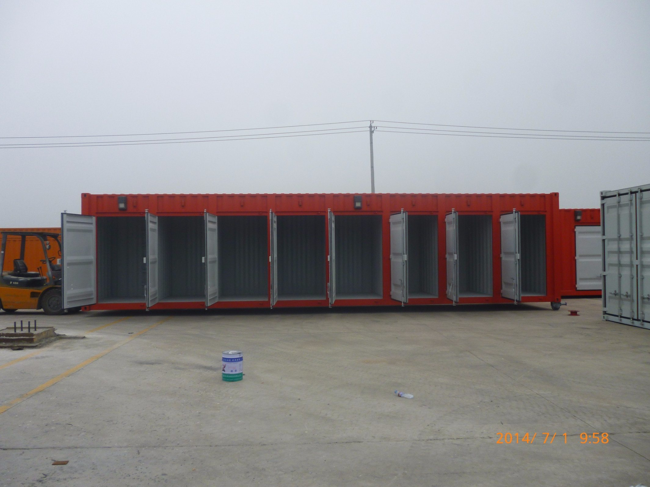 China 40FT Shipping Storage Container 40FT Side Open Self Storage