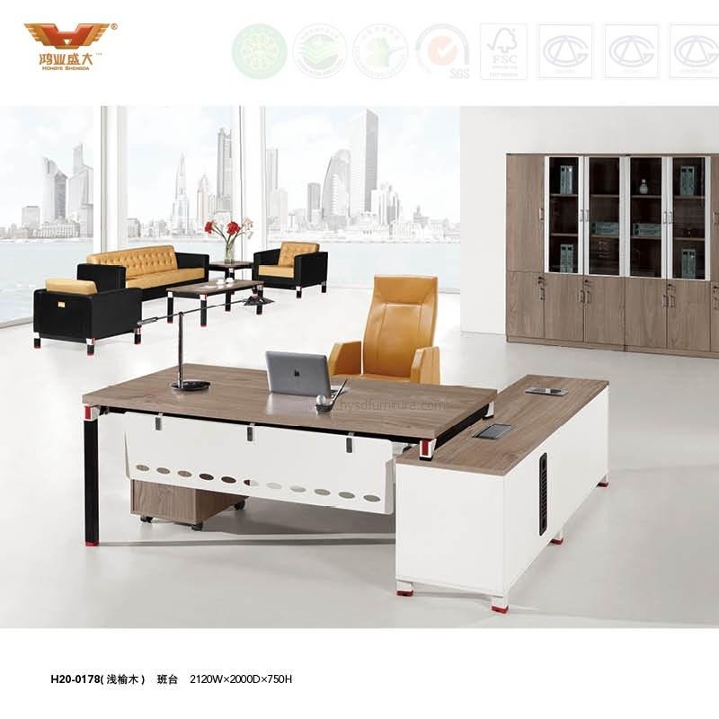 China Modern Office Furniture L Shape Executive Desk H20 01