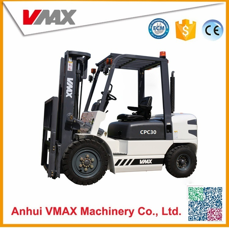 China Manual 3 Ton Diesel Toyota Forklift With Penuamtic Tire