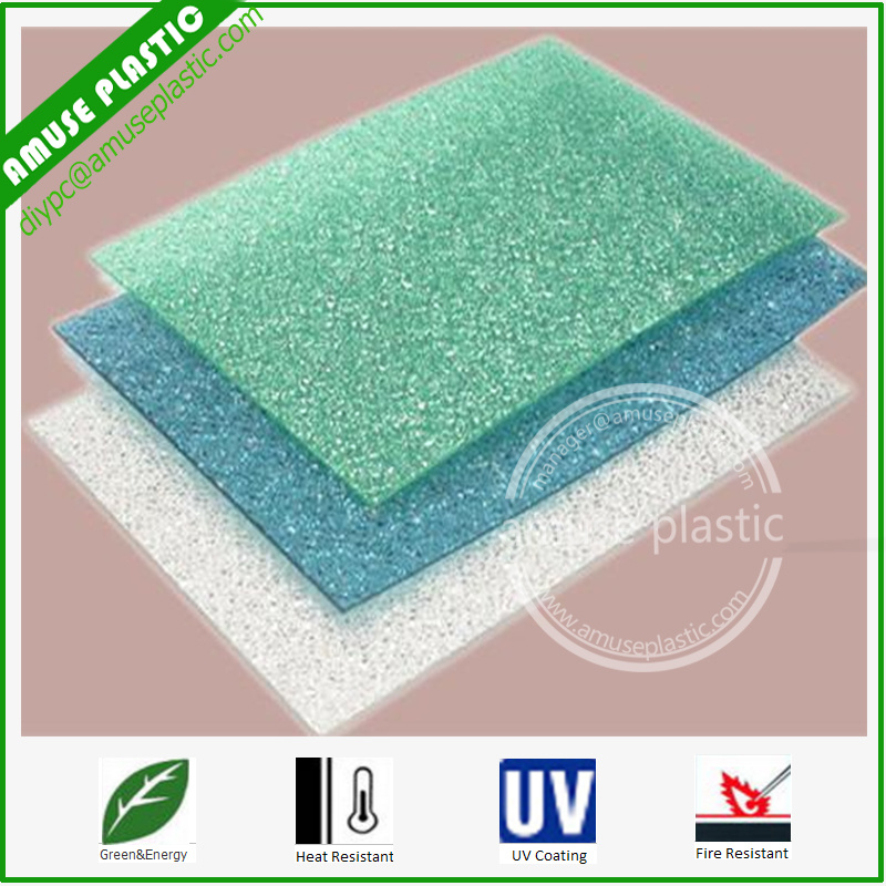 Grade a Plastic Building Colored Polycarbonate Embossed Sheet Price pictures & photos