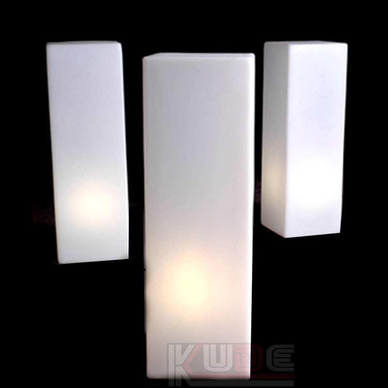 China Led Lighting Pillars With 16 Colors For Wedding Events Floor Lamp Landscape