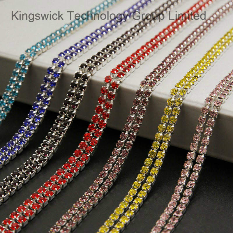 6b12c6980fa1 China Crystal Rhinestone Cup Chain Trimming in Roll for Dress, Shoes,  Necklace, Bracelet - China Cup Chain, Rhinestone Cup Chain