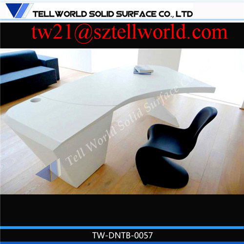 [Hot Item] Ultra Tech Modern Factory Direct Cool Marble Office Table High  End Home Modern Office Furniture