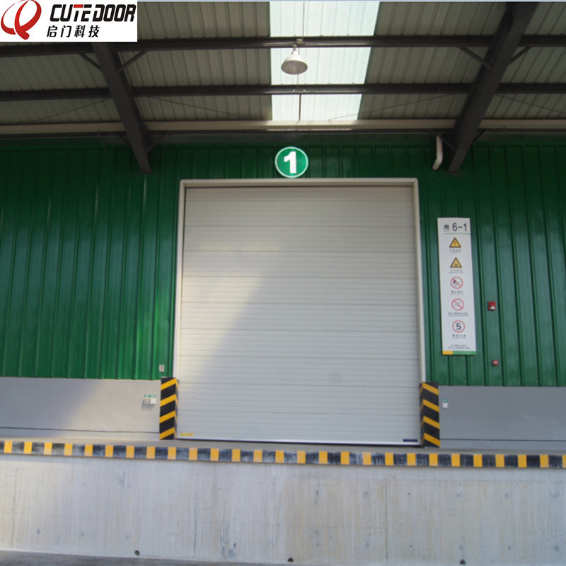 Automatic Industrial Sectional Overhead Shutter Door with Window Viewer pictures & photos