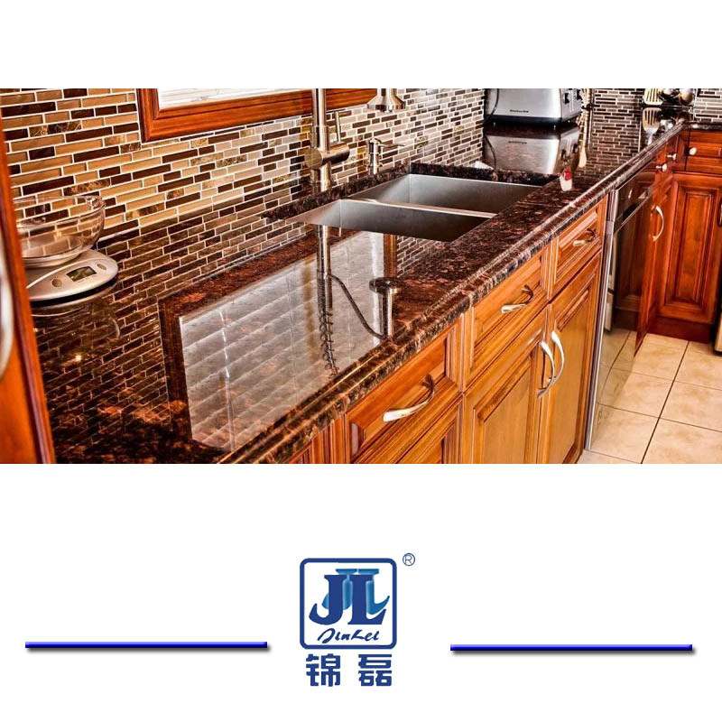 China Nutural Polished Tan Brown Granite Countertop For Kitchen Or