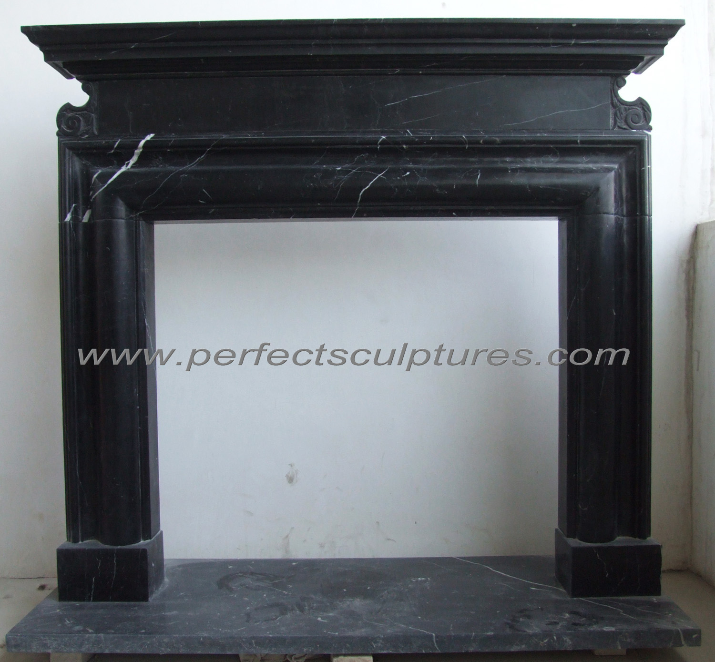 China English Georgian Style Fireplace Surround With Black Stone Marble Qy Le258 China Stone Fireplace Marble Fireplace